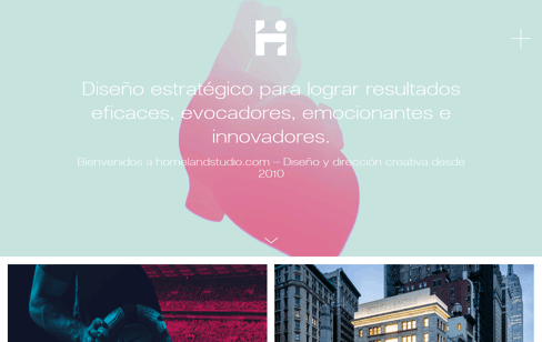 Homeland Studio Web Design