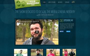 The Kick Awesome Show Web Design