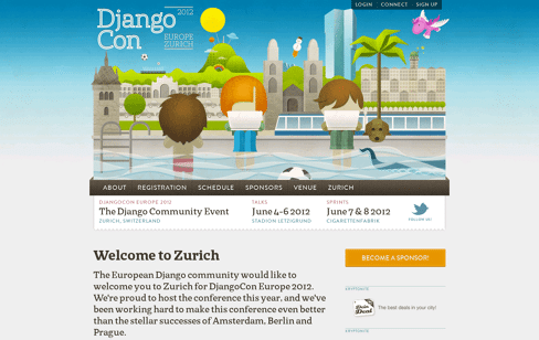 DjangoCon Europe  Web Design
