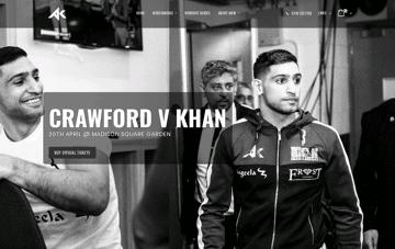 Amir Khan | Professional Boxer Web Design