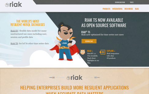 Enterprise NoSQL Database Riak Web Design