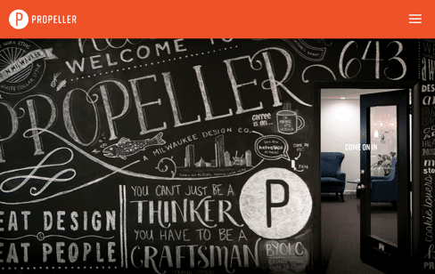 Propeller | Milwaukee Design and Marketing Communications Web Design