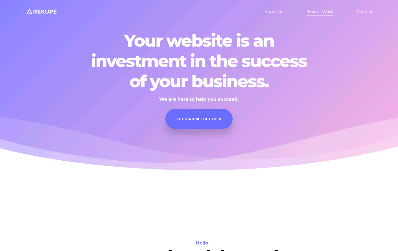 Rekupe - Los Angeles Based Web Design Agency