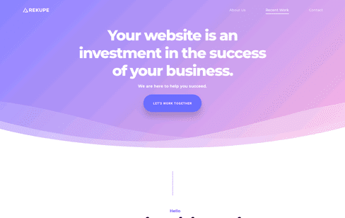 Rekupe - Los Angeles Based Web Design Agency Web Design