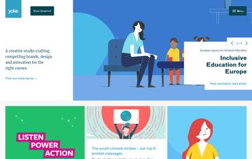 Yoke, Ethical Design, Brand and Animation Studio in Bristol Web Design