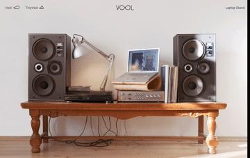 Vool - Laptop stand Web Design
