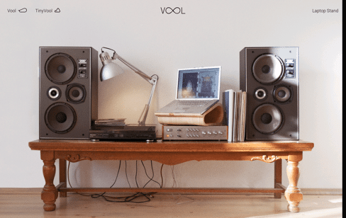 Vool - Laptop stand Web Design