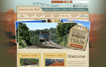 America By Rail Web Design