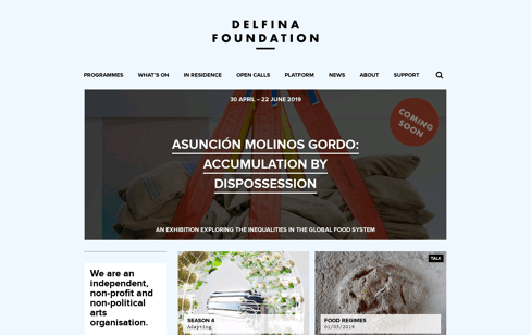 Delfina Foundation Web Design