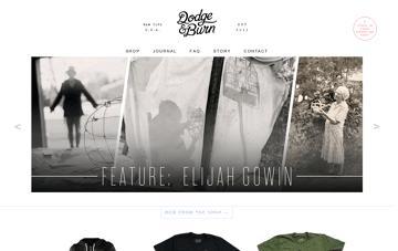 Dodge & Burn Web Design