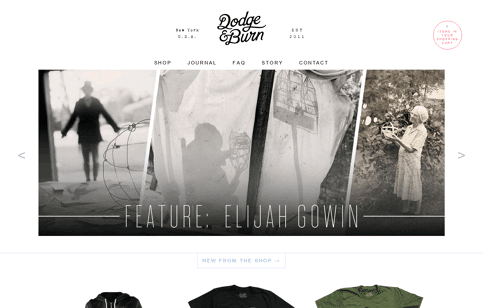 Dodge & Burn Web Design