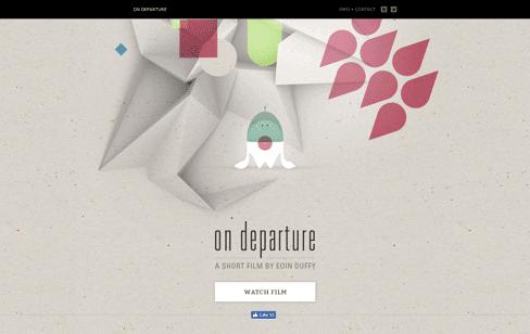 ON DEPARTURE Web Design