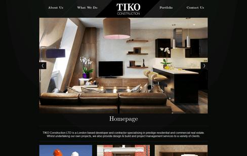 TIKO Construction Web Design