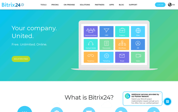Bitrix24: #1 Free Collaboration Platform With CRM, Tasks, Projects, Documents, Messaging And Much More Web Design