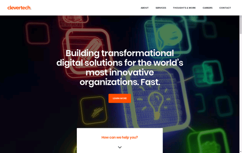 Clevertech: Digital Innovation & Software Development  Web Design