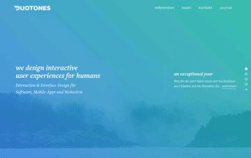 Duotones User Experience interface Web Design