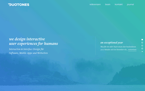 Duotones User Experience interface Web Design