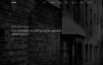 Salad: Creative Design Agency Web Design