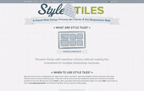 Style Tiles Web Design