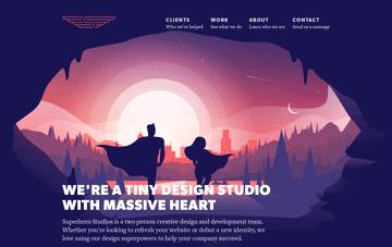 Superhero Studios: Design and Development  Web Design