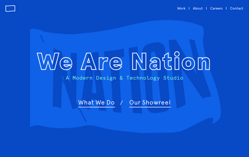 Nation | A Modern Design & Technology Studio Web Design