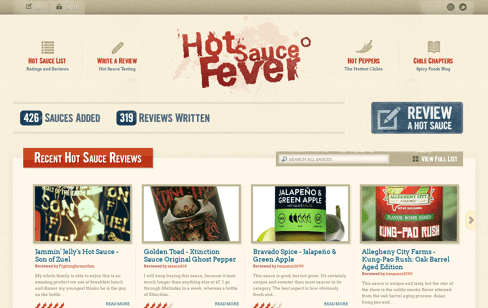 Hot Sauce Fever Web Design
