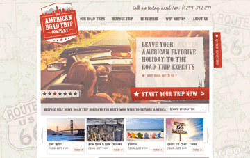 The American Road Trip Company Web Design