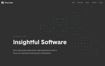Envy Labs: Data-Driven Web Applications Web Design