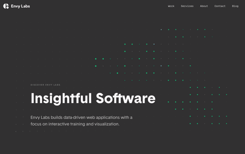 Envy Labs: Data-Driven Web Applications Web Design