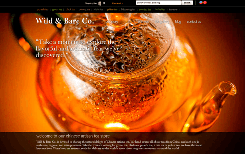 Chinese Artisan Teas Web Design