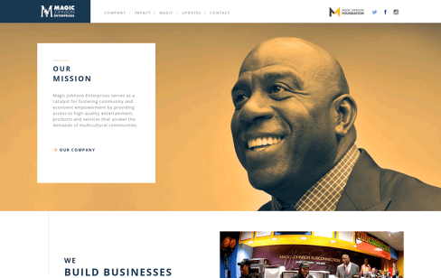 Magic Johnson Web Design