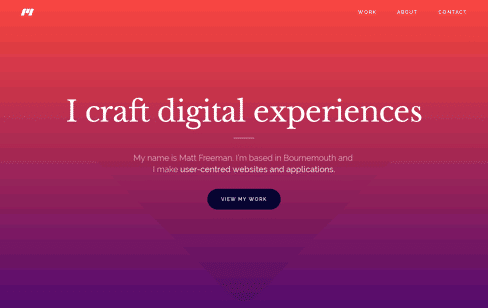 Matthew Freeman: UX Designer & Developer Bournemouth  Web Design