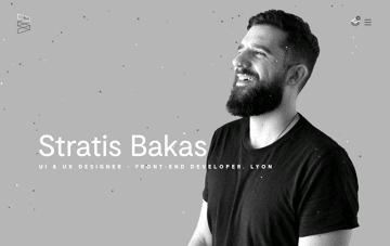 Stratis Bakas UI & UX designer - Front-end developer Web Design