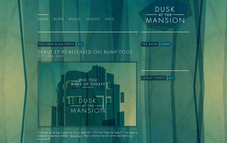 Dusk at the Mansion