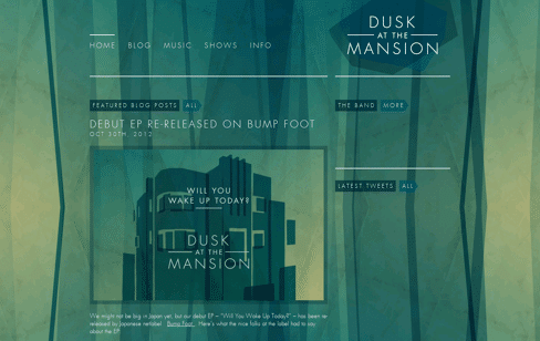 Dusk at the Mansion Web Design