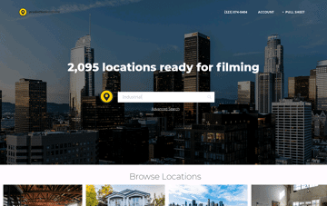 Production Locations for Film, TV, Commercial, Photo Productions. Web Design