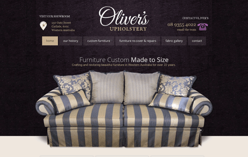 Oliver's Furniture Web Design