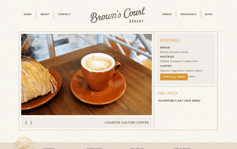 Brown's Court Bakery Web Design
