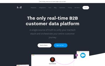 Hull - Real-time Customer Data Platform for B2B SaaS Web Design