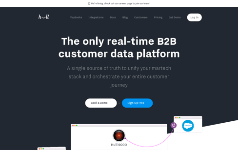 Hull - Real-time Customer Data Platform for B2B SaaS Web Design