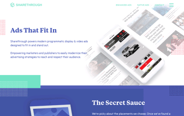 Sharethrough - Native Advertising Software For Publishers  Web Design
