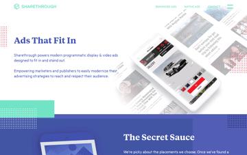 Sharethrough - Native Advertising Software For Publishers  Web Design
