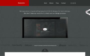 Awesome - We fuel startups™ Web Design