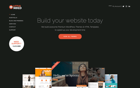 Little Neko : WordPress Themes And Templates Web Design