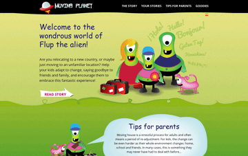 Moving Planet Web Design