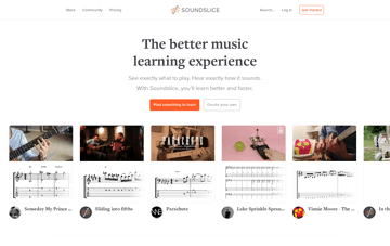 Soundslice | The better music learning experience Web Design
