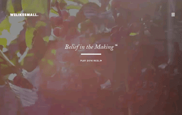 Welikesmall • Belief in the Making Web Design