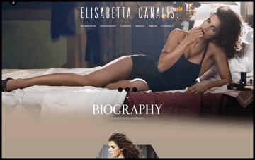 Elisabetta Canalis . Official Website Web Design