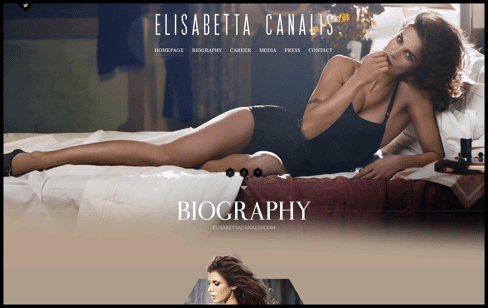 Elisabetta Canalis . Official Website Web Design