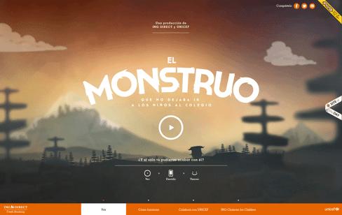 El Monstruo que no dejaba ir a los niños al colegio  Web Design